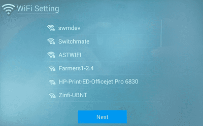 Frame WiFi Network Selection
